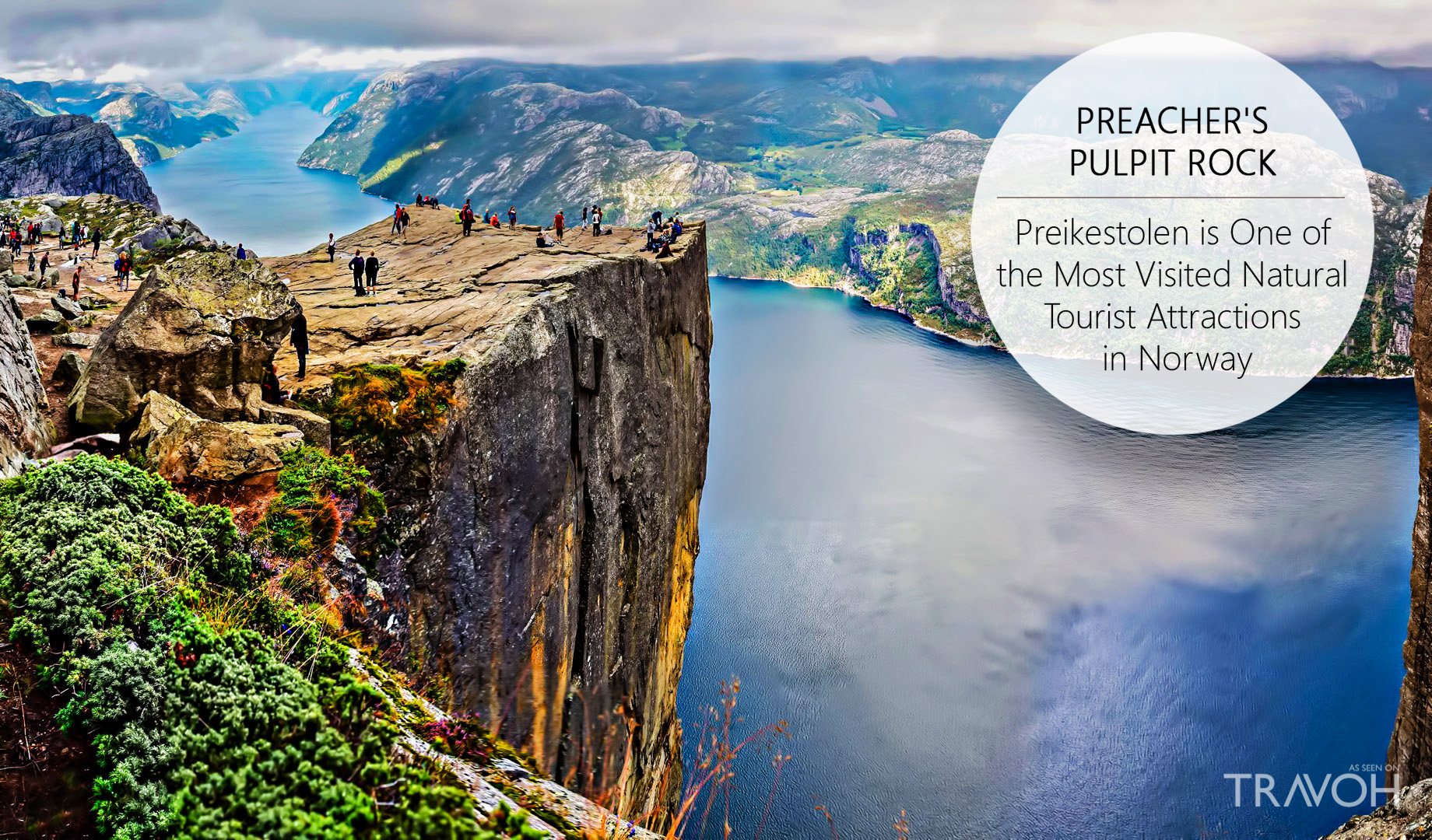 Preachers Pulpit Rock - Preikestolen is One of the Most Visited Natural Tourist Attractions in Norway