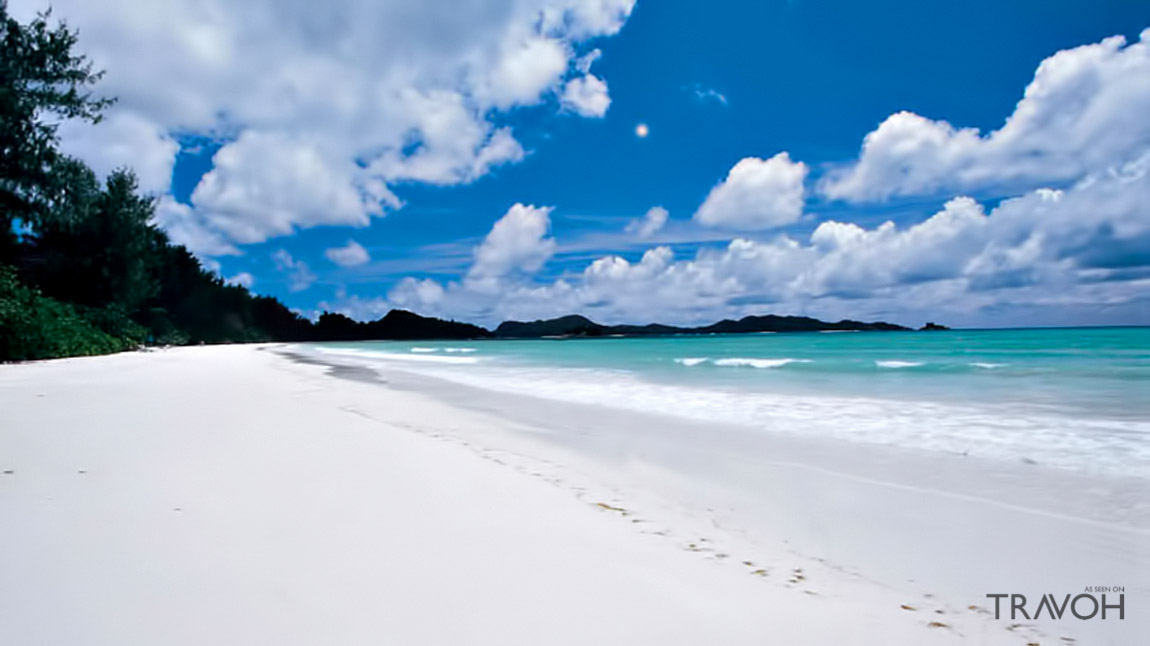 White Sand Beach in Cote d'Or, Baie Sainte Anne, Seychelles, Africa