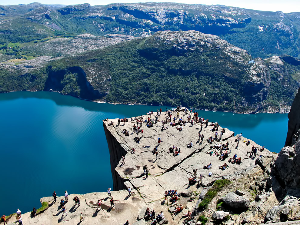 Preachers Pulpit Rock – Preikestolen is One of the Most Visited Natural Tourist Attractions in Norway