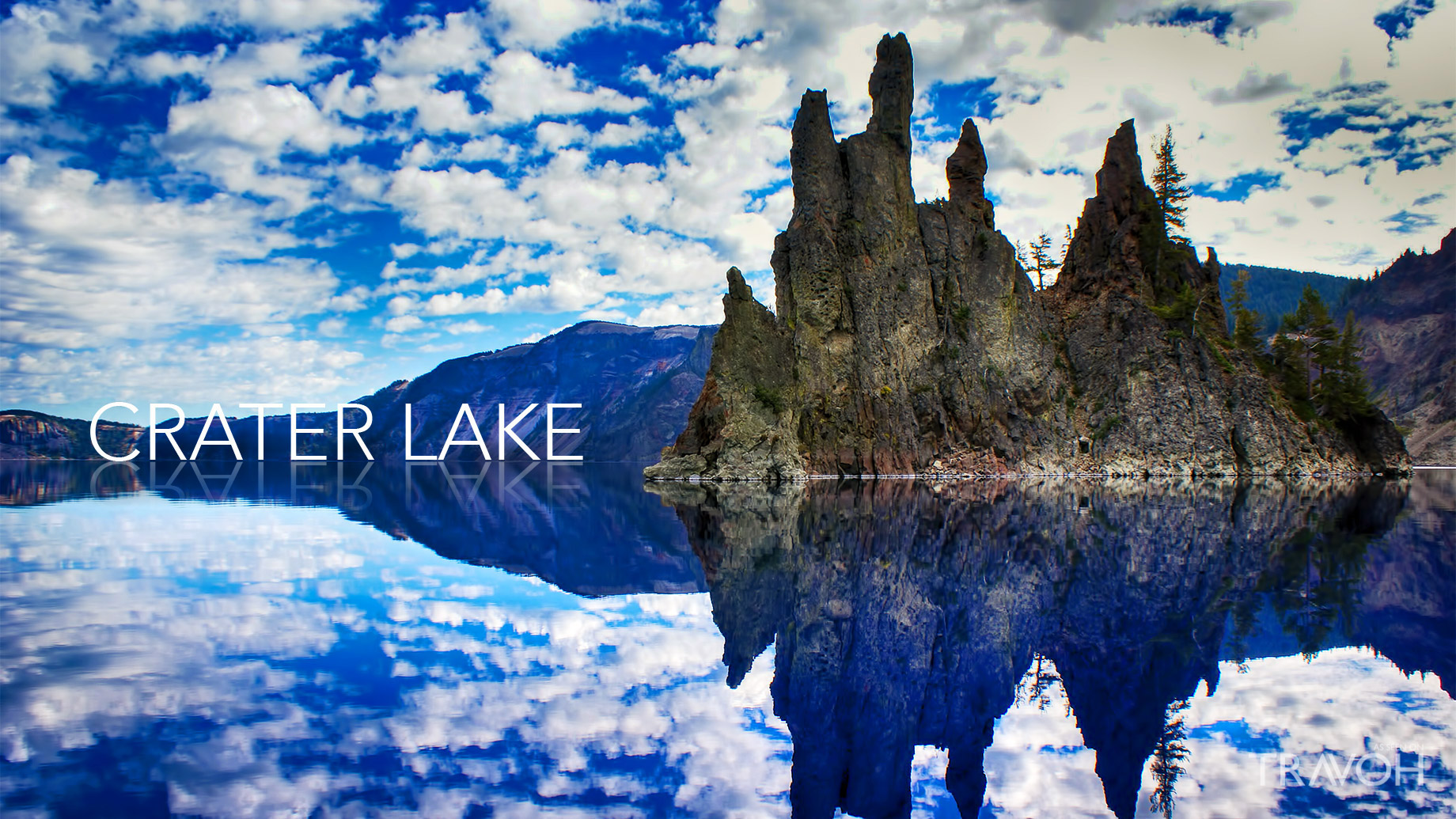 Crater Lake - America's Deepest Crystal Blue Water Lake in Oregon State