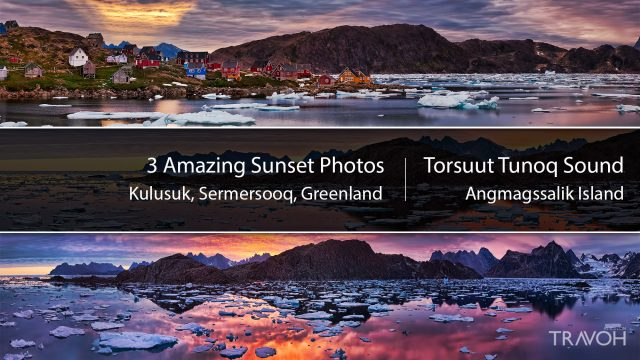Experience Amazing Arctic Sunsets in Kulusuk, Greenland at Torsuut Tunoq Sound