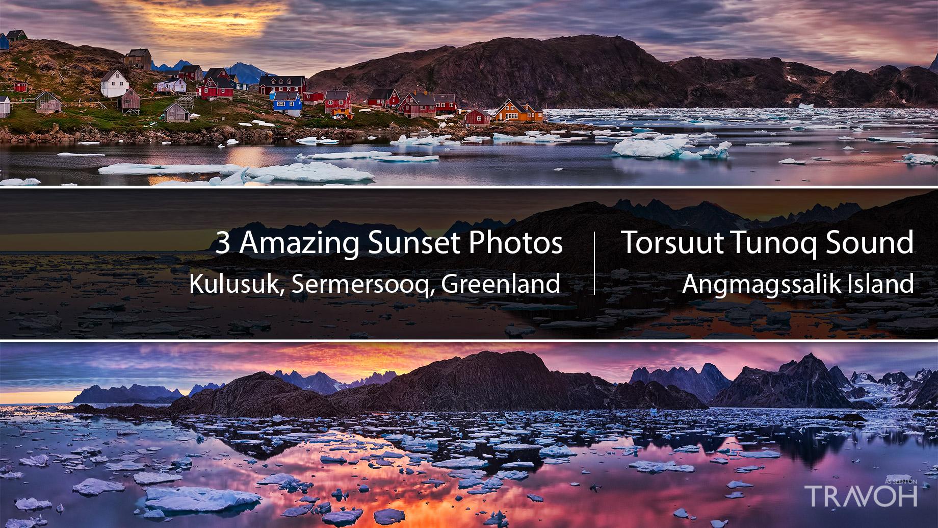 Experience Amazing Arctic Sunsets in Kulusuk, Greenland at Torsuut Tunoq Sound