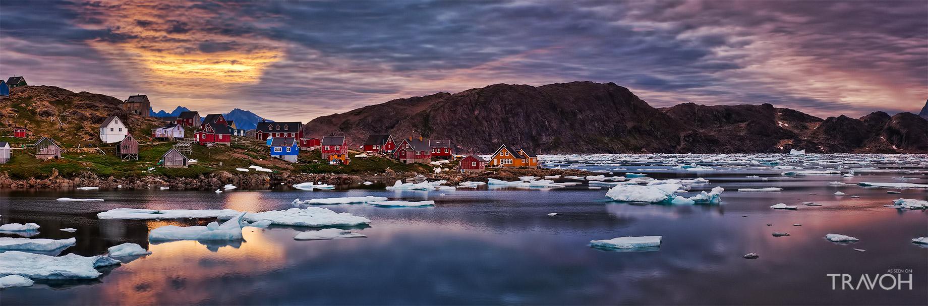 Arctic Sunset - Kulusuk, Sermersooq, Greenland