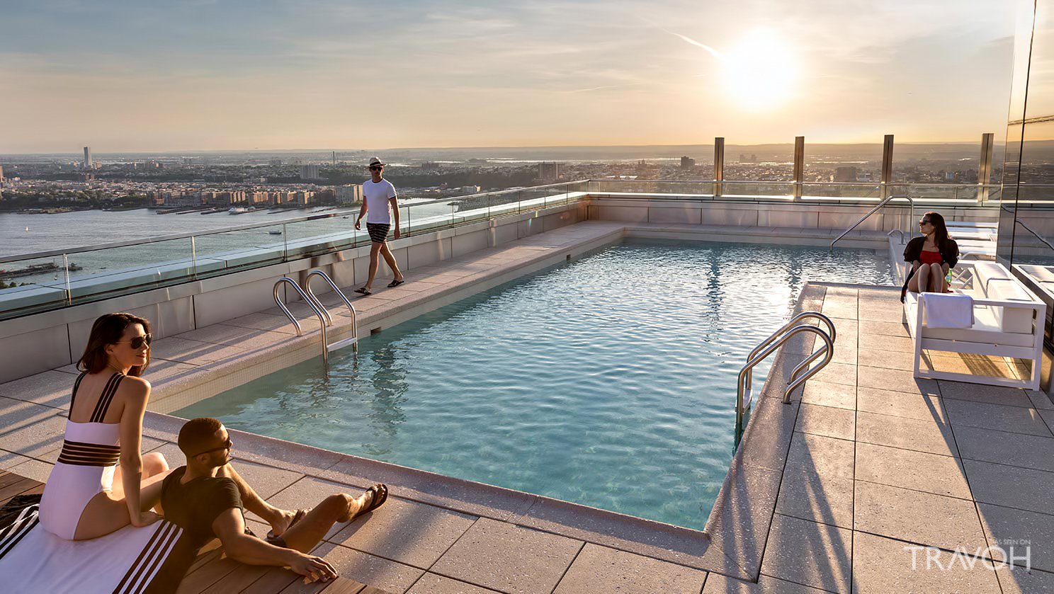 Take a Dip in a Rooftop Pool at 555Ten New York