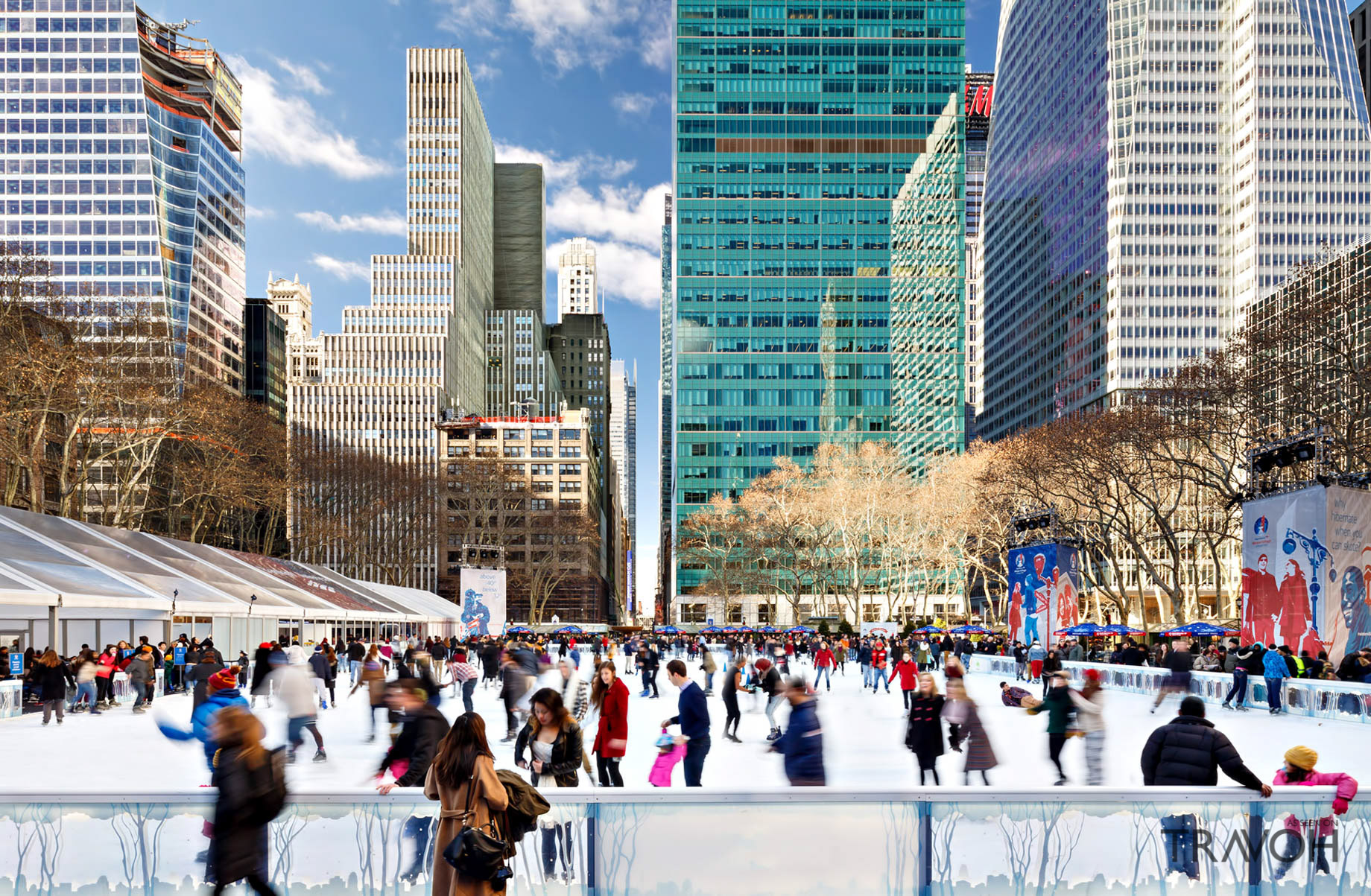 Skating at Bryant Park in New York City