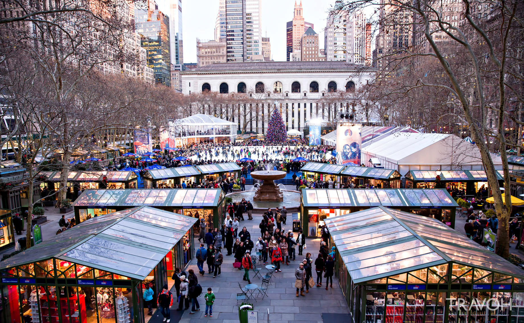 The Bryant Park Winter Village in New York City