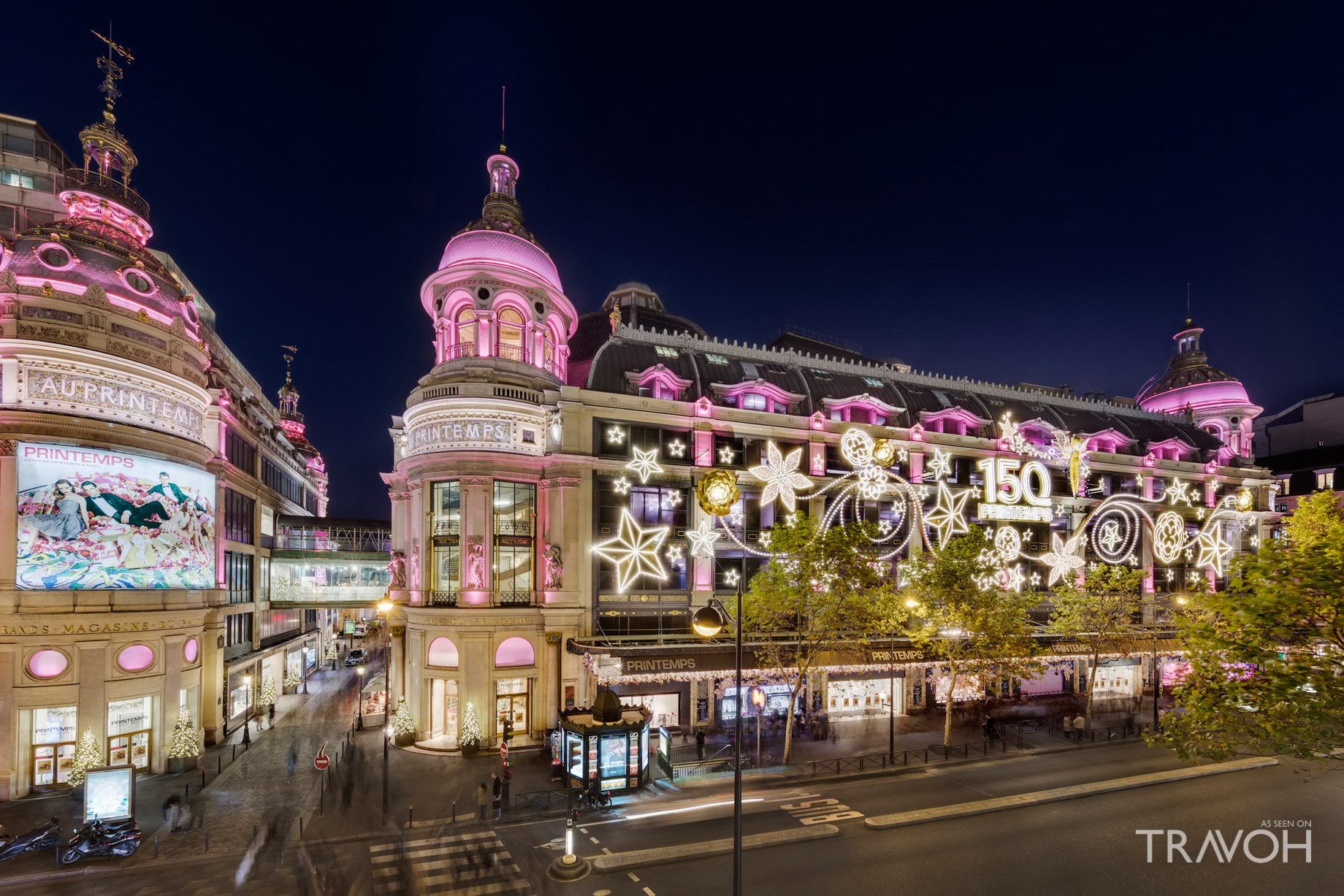 Light Displays at Printemps Haussmann – Paris, France