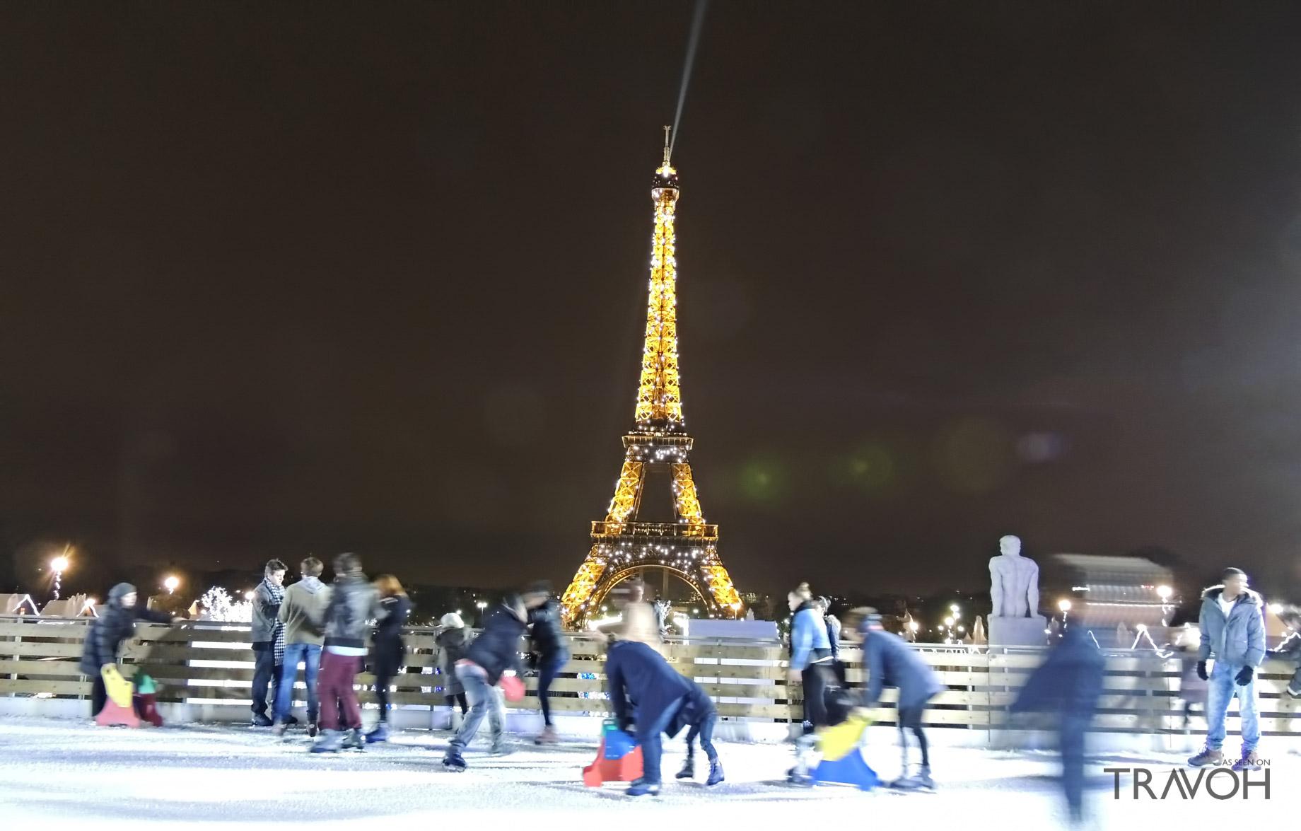 Skating at Santas Village - Paris, France