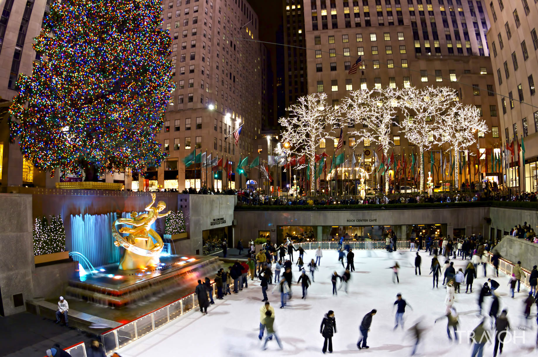 Skating at the Rink at Rockefeller Center - 600 5th Ave, New York, NY, USA