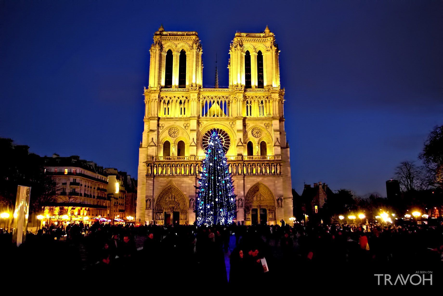 Christmas Holiday Services at Notre Dame Cathederal - Paris, France
