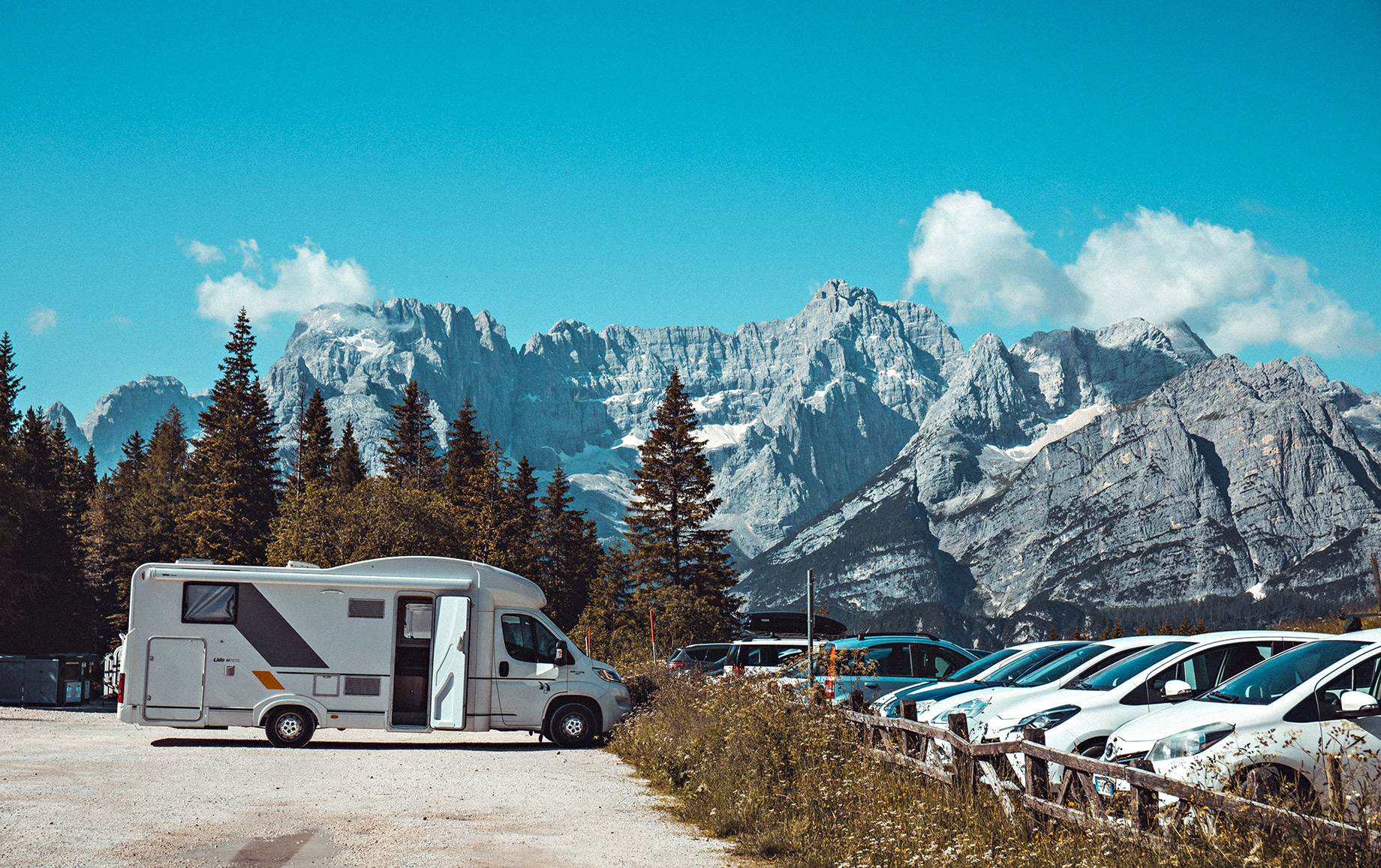 RV Park - Awesome Ideas for RV Life Lovers - Dolomite Mountains, Canazei, Trentino, Italy