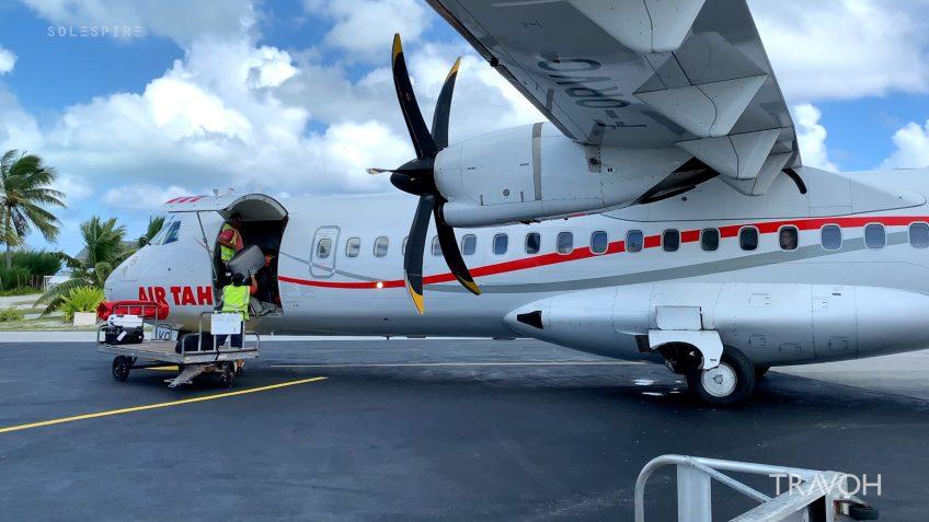 Airplane Landed - Bora Bora Airport - Motu Tane Private Island Vacation - French Polynesia - Travel
