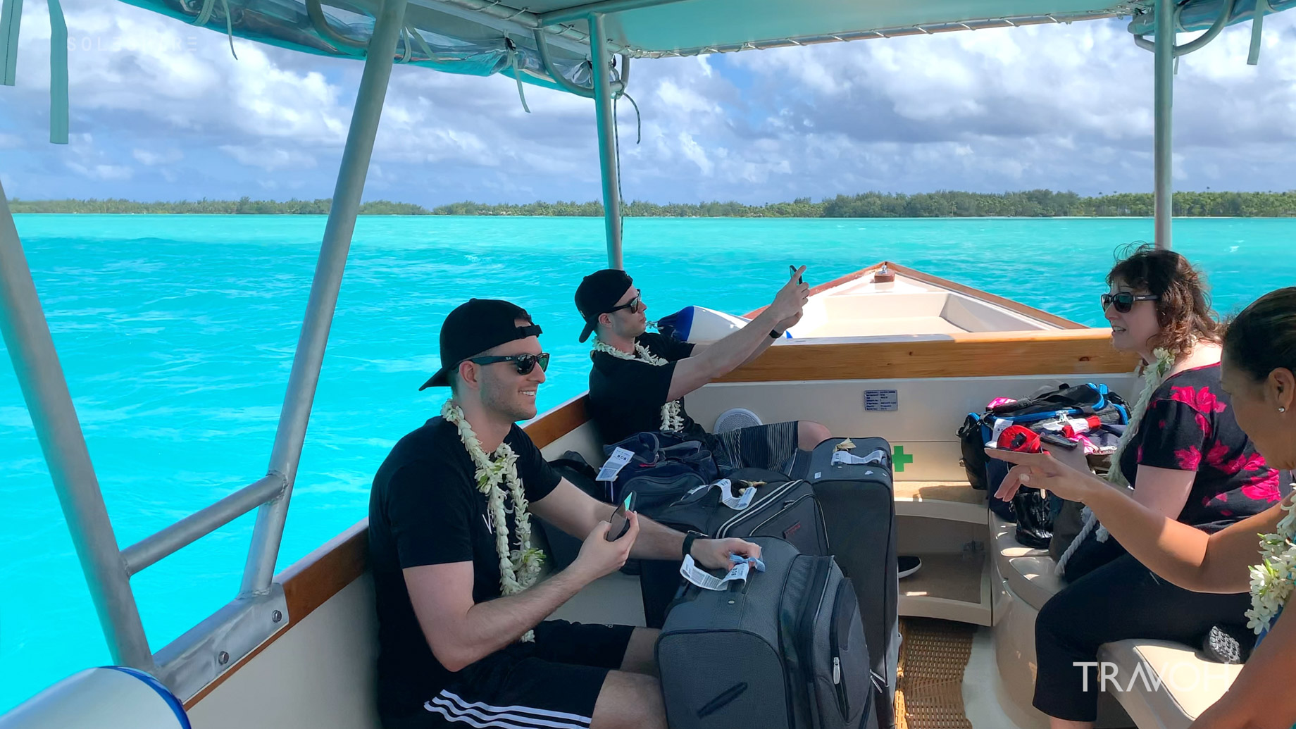 Marcus Anthony & Derek Alexander – Lagoon Boat Ride – Motu Tane Private Island Vacation – Bora Bora, French Polynesia – Travel