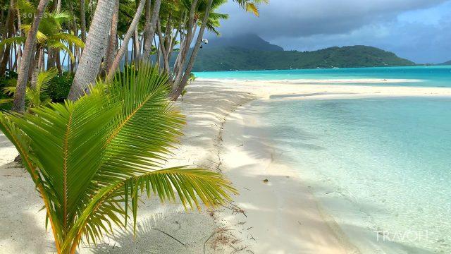 Calm Before The Storm - Motu Tane Island - Bora Bora, French Polynesia - 4K Travel Video