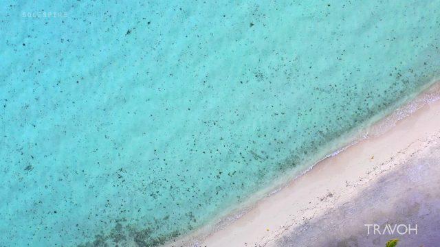 Calming Waves - Relaxing Sea After Sunset - Motu Tane - Bora Bora, French Polynesia - 4K Travel Video