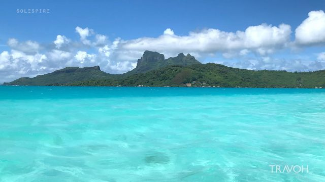 Daydreaming and Exploring Island Views by Boat - Bora Bora, French Polynesia - 4K Travel Video