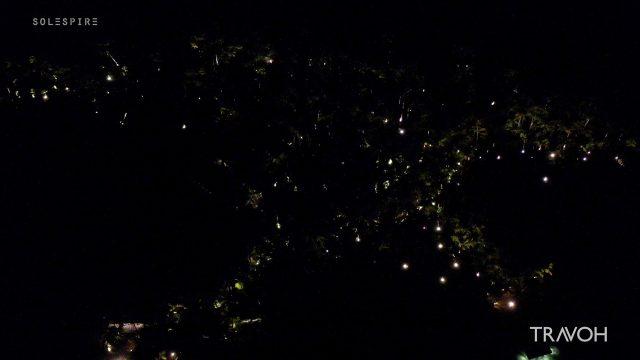 Mysterious Drone Views by Night - Motu Tane Island - Bora Bora, French Polynesia - 4K Travel Video