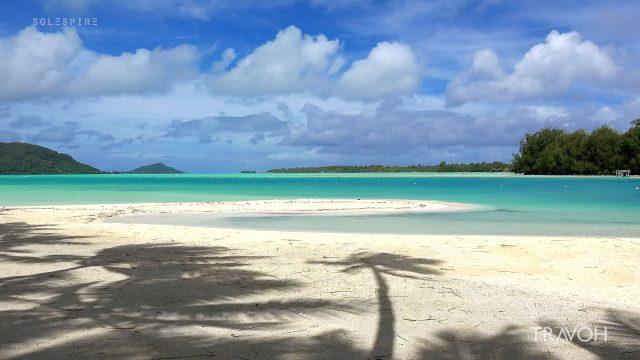 Relaxing Beach Sounds, Natural Ocean Waves - Motu Tane, Bora Bora, French Polynesia - 4K Travel Video
