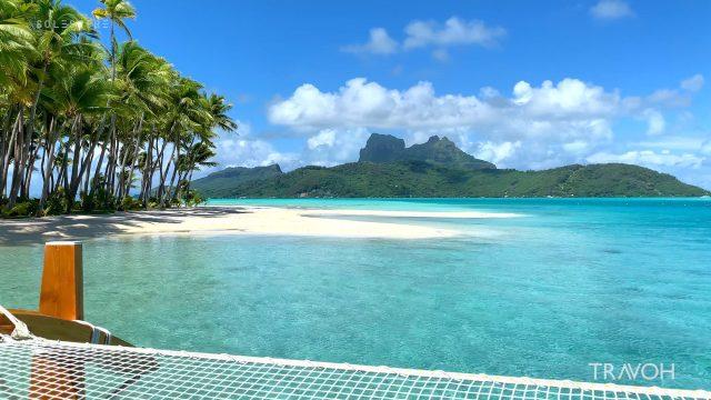 Soothing Arrival to Sandbar Shore - Motu Tane Island - Bora Bora, French Polynesia - 4K Travel Video