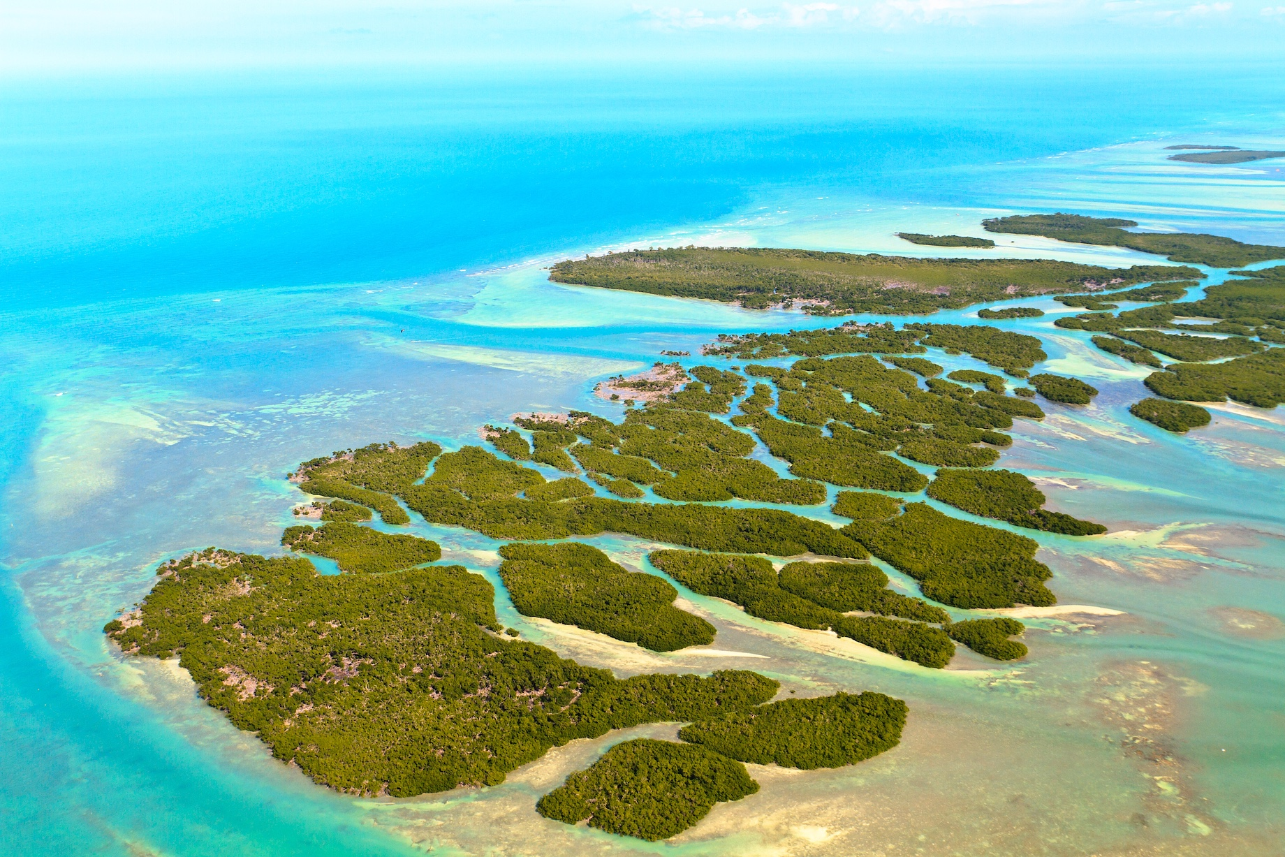 Aerial View - Islands of The Florida Keys - United States