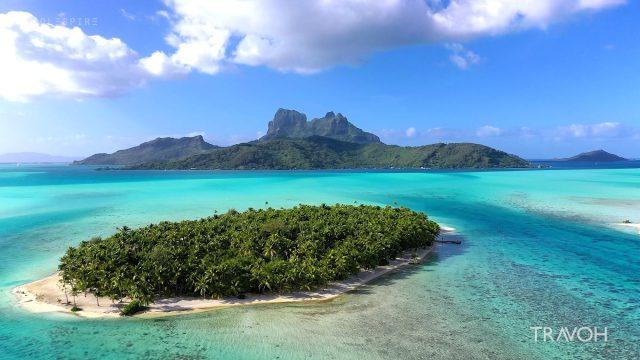 Amazing Drone Flyover - Motu Tane Private Island Paradise - Bora Bora, French Polynesia - 4K Travel Video