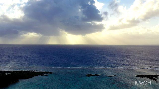 Dramatic Drone Views - South Pacific Ocean Sunset - Bora Bora, French Polynesia - 4K Travel Video