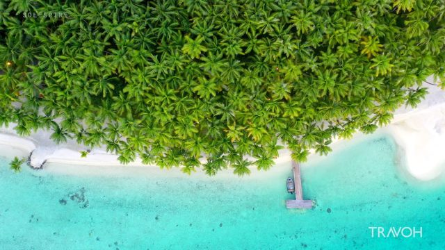 Magical Drone Descent - Motu Tane Private Island - Bora Bora, French Polynesia - 4K Travel Video
